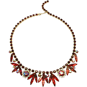 Sparkling Red Juliana D&E Rhinestone Necklace