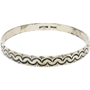 Sterling Southwest Design Stamped Stacker Bangle Bracelet