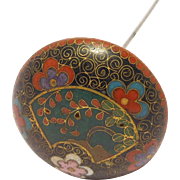 Antique Ornate Cloisonne Hatpin Art Deco Rare