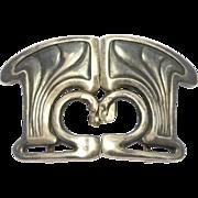 Art Nouveau Heinrich Levinger Sterling Buckle As Is
