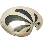 Danish Sterling And Inlay Modernist Brooch Kf Kai Feiling
