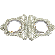 Simply Gorgeous Art Deco Rhinestone Crystal Buckle