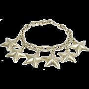 Vintage Mexican Silver 6 Stars Bracelet Fun Design