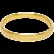 Gold Filled Elegant Art Deco Bangle Bracelet
