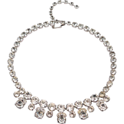 Eisenberg Crystal Ornate Necklace Vintage Rhinestones