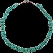 Turquoise Nugget & Heishi Southwest Necklace Old