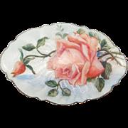 Gorgeous Art Deco Enamel Scandinavian Rose Brooch
