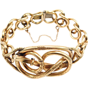 Ornate Victorian Gold Filled Knots Bracelet 1880