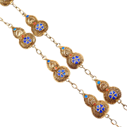 Chinese Silver Filigree Cloisonne Necklace Ornate