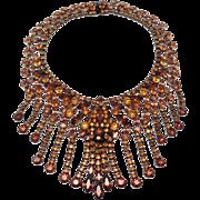 Tiered Vintage Rhinestone Necklace Attributed To Kramer