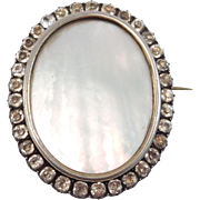 Early French Paste Brooch For Portrait 1860