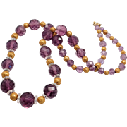 14K Etruscan Gold Victorian Beads With Amethyst Beads