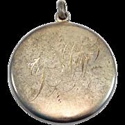 Oversize Victorian Locket Sterling Silver