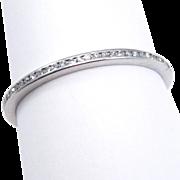 Eternity Band Art Deco Platinum Diamonds ½ Carat Tw Size 9
