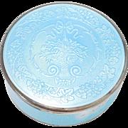 Sterling Pastel Blue German Enamel Box Art Deco