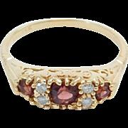 Estate 14K Pink Tourmaline & Diamonds Ring Lovely