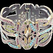 Heidi Daus Dragonfly Swarovski Crystals Hidden Watch Bracelet