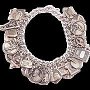 Vintage Charm Bracelet 31 Sterling Charms Phone Company & Communications