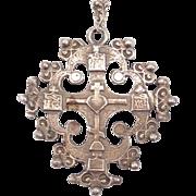 Onate Antique 800 Silver Italian Jerusalem Cross Pendant
