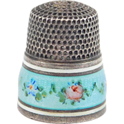 Size 8 Sterling Enamel Simons Thimble Perfect
