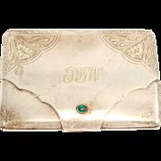 Russian 84 Silver Engraved Cigarette Case Antique