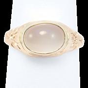 Victorian Engraved Moonstone Ring 14K