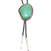 Sterling Navajo Huge Royston Turquoise Signed Bolo
