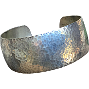Hand Hammered Sterling Silver Cuff Bracelet