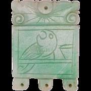 Antique Carved Natural Jade Pendant Amulet