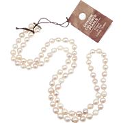 Estate Strand Cultured Baroque Pearls 8Mm 28 Inches