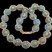 Beautiful Strand Robin'S Egg Blue Wedding Cake Venetian Beads Necklace