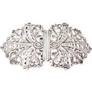 Sterling English Victorian Foliate Large Buckle 1899