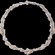 Heavy Sterling Modernist Sculptural Necklace