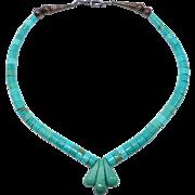 Turquoise Heishi Jacla Navajo Southwest Necklace