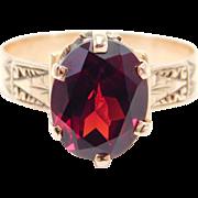 14K Rose Gold Victorian Garnet Ring Lovely