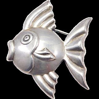 Los Castillo Taxco Silver Fish Brooch Mexican