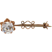 Victorian Rose Gold Halley's Comet Brooch Paste 9ct