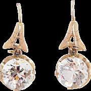 Victorian 9K Paste Earrings Large Stones Pretty