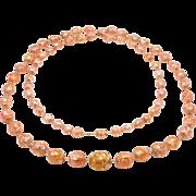 Stunning Long Strand Pink Czech Venetian Foil Beads