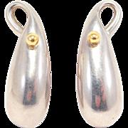 Modernist Tane Mexican Silver Earrings