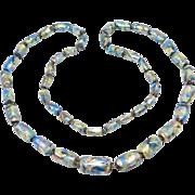 Antique Czech Rainbow Foiled Glass Beads Beautiful