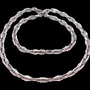 Unique Deco Geometric Link 800 Silver Chain 26 Inches