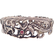 Old Ornate Silver Mythical Creature Bracelet