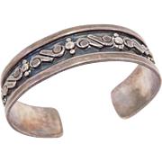 Mexican Silver Taxco Old Cuff Bracelet