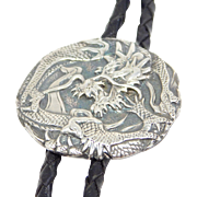 Japanese Ornate Silver Meiji Dragon Bolo