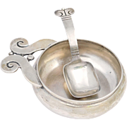 Hector Aguilar Sugar Bowl With Sugar Spoon 940 Silver Taxco