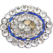 Rare Large Georgian Paste Pin 1840'S Beautiful As Is