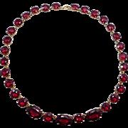 Beautiful Art Deco Garnet Glass Czechoslovakia Necklace
