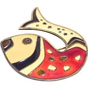David Andersen Sterling 925S Norway Fish Brooch