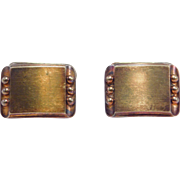 Mid Century Modernist Swedish 835 Silver Cufflinks